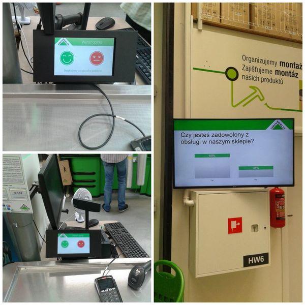 System badania satysfakcji klienta w nowym sklepie Leroy Merlin